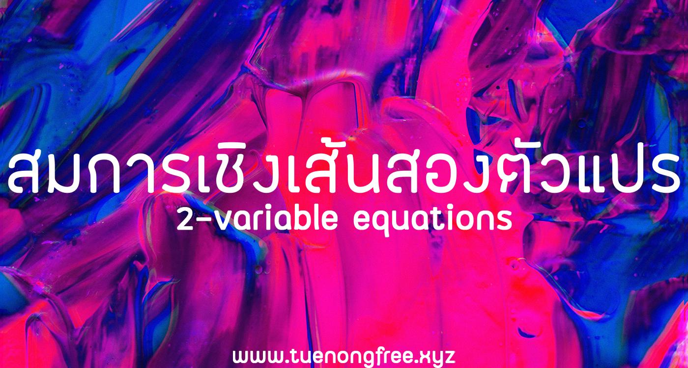 สมการเชิงเส้นสองตัวแปร